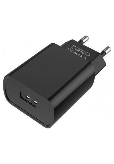 Set Incarcator Retea 1xUSB Borofone BA20A +Cablu Date Micro Usb 1m Negru