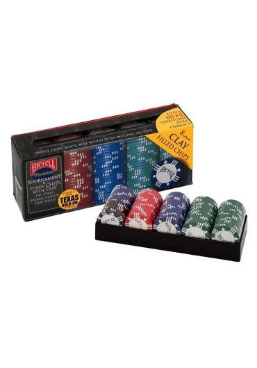 Set Bicycle Clay Poker 100 Chip