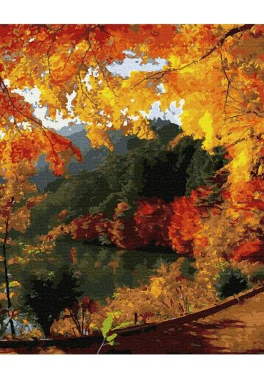 Set Picturi pe numere, Acuarello, 40X50 cm - Autumn Colors