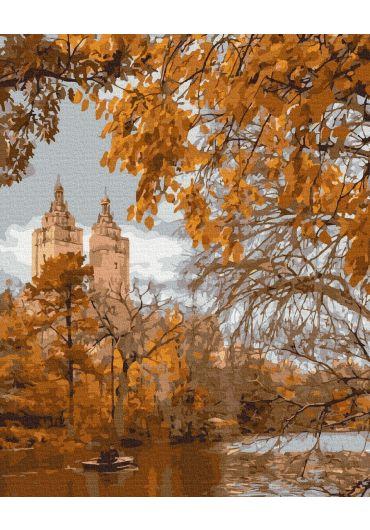 Set Picturi pe numere, Acuarello, 40X50 cm - Autumn in the City