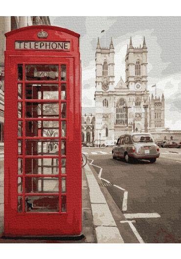 Set Picturi pe numere, Acuarello, 40X50 cm - London City