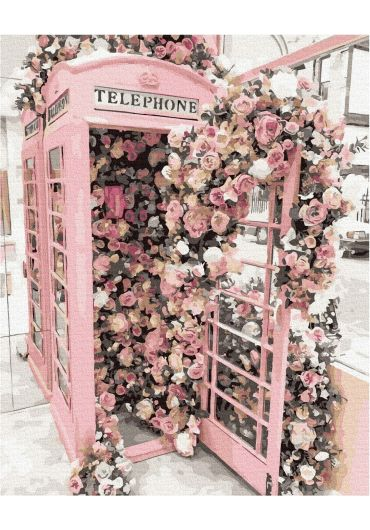Set Picturi pe numere, Acuarello, 40X50 cm - Pink Telephone