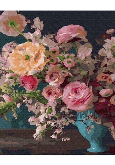 Set Picturi pe numere, Acuarello, 40X50 cm - Art Flowers