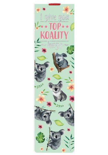 Semn de carte cu elastic - Koala