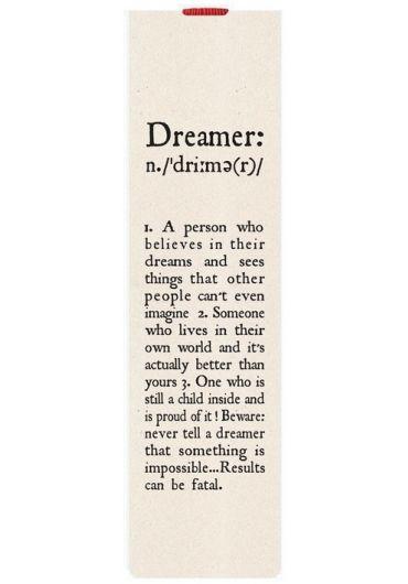 Semn de carte cu elastic - Dreamer