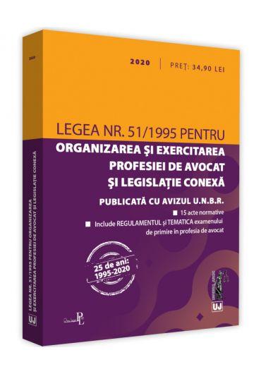 Legea nr. 51/1995 pentru organizarea si exercitarea profesiei de avocat si legislatie conexa 2020