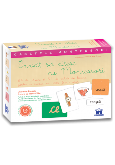 Invat sa citesc cu Montessori - 84 de jetoane si 51 de tichete de lectura pentru a invata sa citesti usor