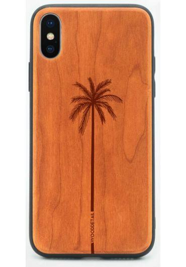 Carcasa din Lemn pentru iPhone X/XS - Single palm