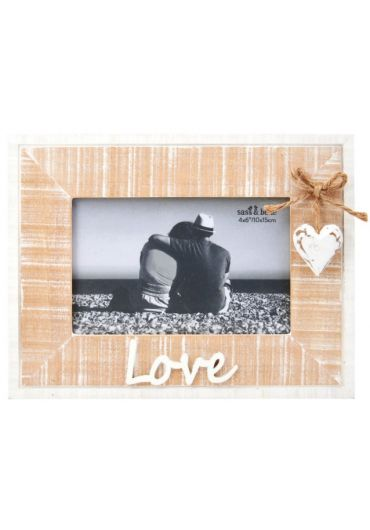 Rama foto - Rustic Heart Love