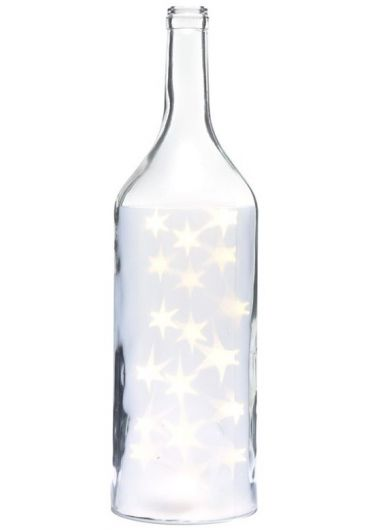 Sticla decorativa mare cu luminite Led Xmas