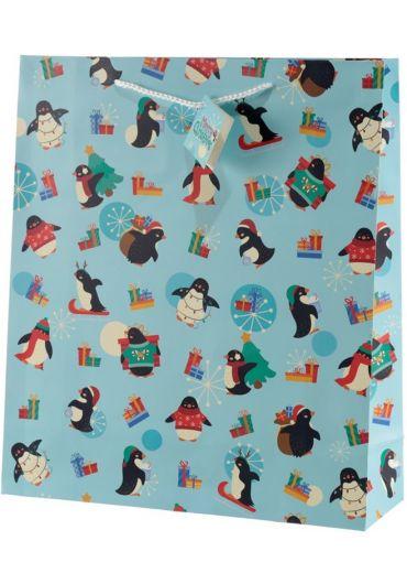 Punga cadou XL - Penguins Xmas