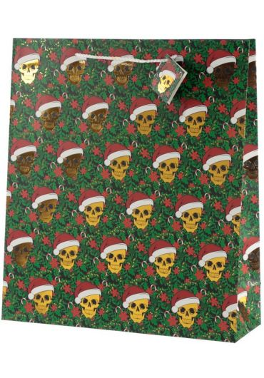 Punga cadou XL - Skull Metallic Xmas