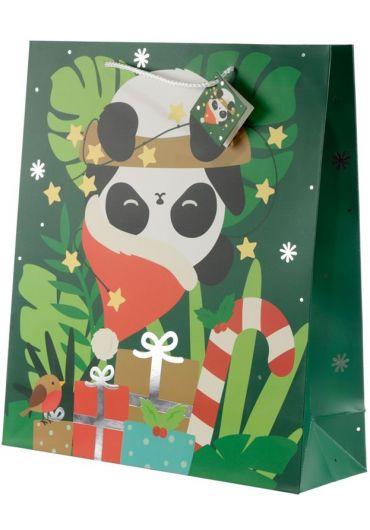 Punga cadou XL - Panda Xmas