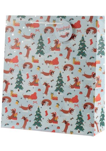 Punga cadou XL - Dachshund Through The Snow Xmas