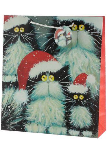 Punga cadou XL - Kim Haskins Cats Xmas