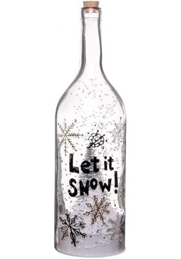 Sticla muzicala cu luminite Led - Festive Let it Snow Snowstorm Xmas