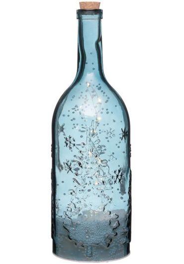 Sticla muzicala cu luminite Led - Festive Blue Snowstorm Xmas