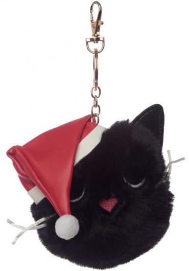 Breloc - Festive Feline Cat Pom Pom Xmas