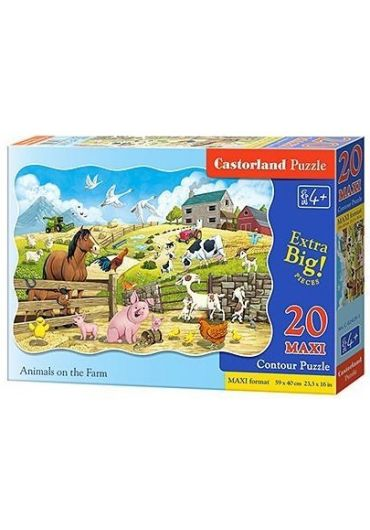 Puzzle 20 piese Maxi Animals on the Farm