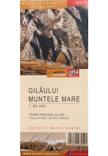 Harta de drumetie - Muntii Gilaului - Muntele Mare