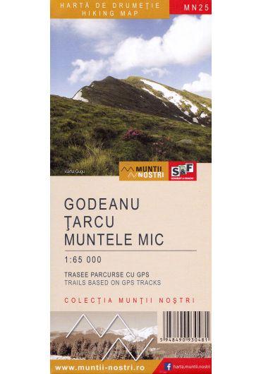 Harta de drumetie - Muntii Godeanu - Tarcu - Muntele Mic