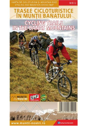 Harta de cicloturism si mountain bike. Trasee cicloturistice in Muntii Banatului