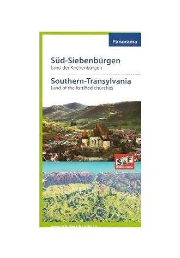 Harta Transilvania de Sud. Tara Bisericilor Fortificate
