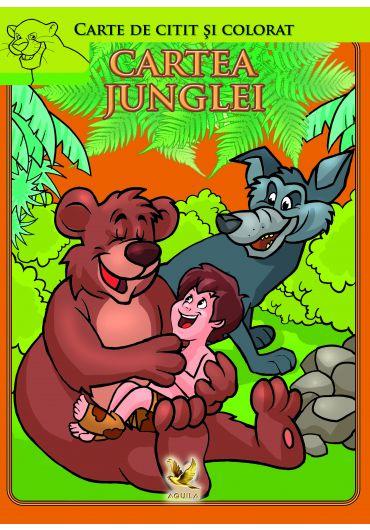 Cartea junglei. Carte de citit si colorat