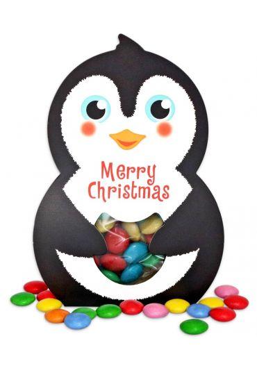 """Cutie Bonbon - """"Pinguin/Casuta"""" cu jelly beans/drajeuri ciocolata"""