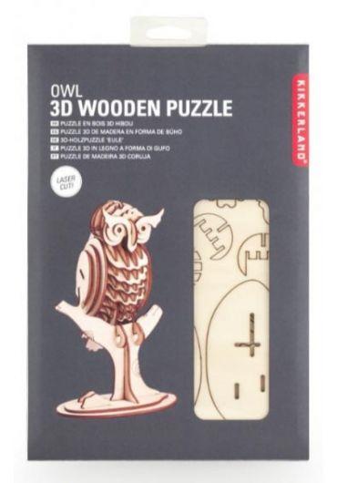 Puzzle lemn 3D - Owl