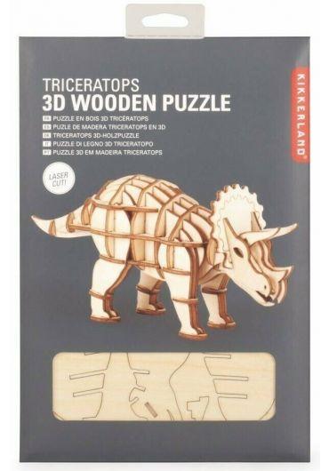 Puzzle lemn 3D - Triceratops