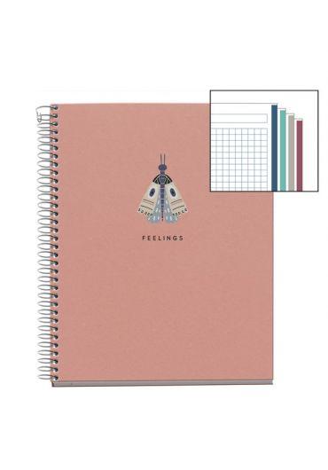 Caiet A5 120 file matematica Pink Naturally