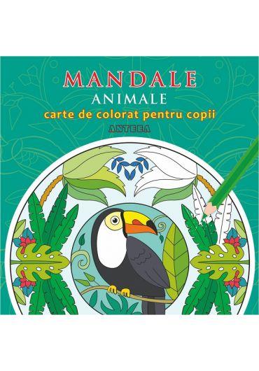 Mandale. Animale. Carte de colorat pentru copii