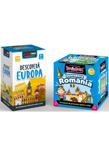 Pachet Brainbox - Descopera Romania & Memorace - Descopera Europa