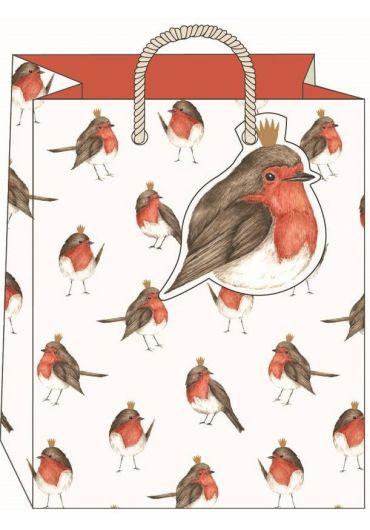 Punga cadou medie - Robins Xmas