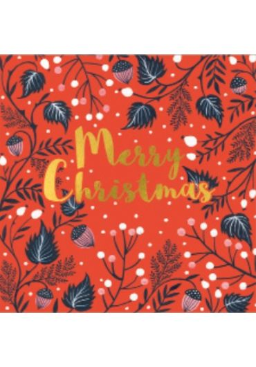 Felicitare - Merry Christmas - Arcons & Springs on red