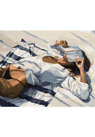 Set Picturi pe numere, Acuarello, 40X50 cm - Relax