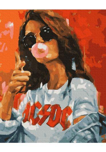 Set Picturi pe numere, Acuarello, 40X50 cm - Cool Girl