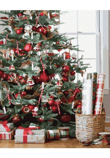 Set Picturi pe numere, Acuarello, 40X50 cm - Christmas Tree