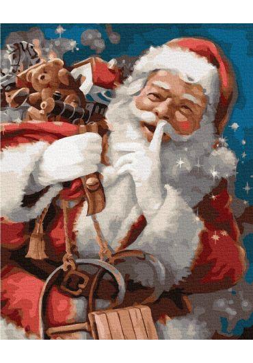 Set Picturi pe numere, Acuarello, 40X50 cm - Merry Christmas