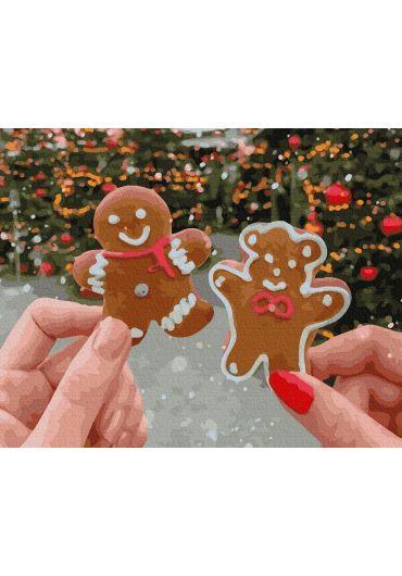 Set Picturi pe numere, Acuarello, 40X50 cm - Christmas Cookies