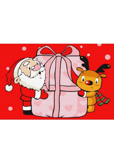 Set Picturi pe numere, Acuarello, 20X30 cm - Christmas Present