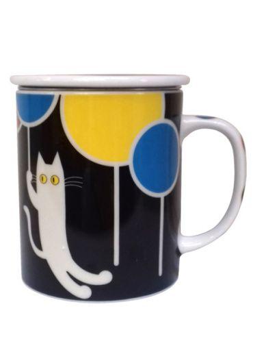 Cana cu capac - Balloon Cat Black