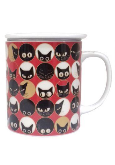 Cana cu capac - Cat Eyes Red