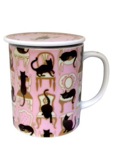Cana cu capac - Victorian Cat Pink