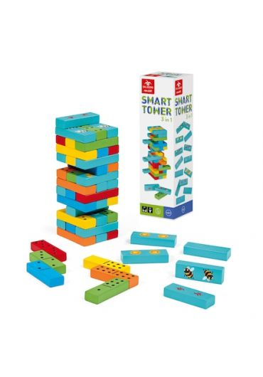 Smart Tower 3 in 1 - Turnul Instabil Memo Game Domino