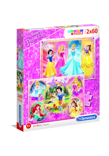 Puzzle 2 in 1 60 piese - Disney Princess