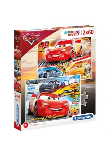 Puzzle 2 in 1 60 piese - Cars 3