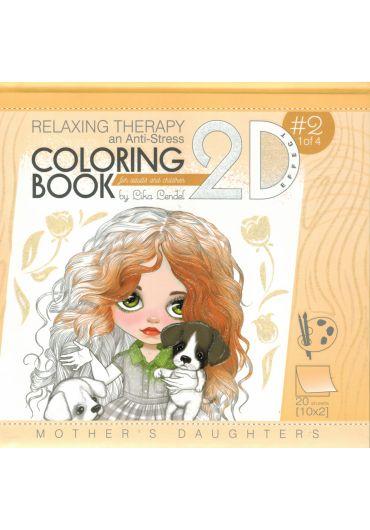 Carte de colorat 200*200mm Antistress Mandarin 2D