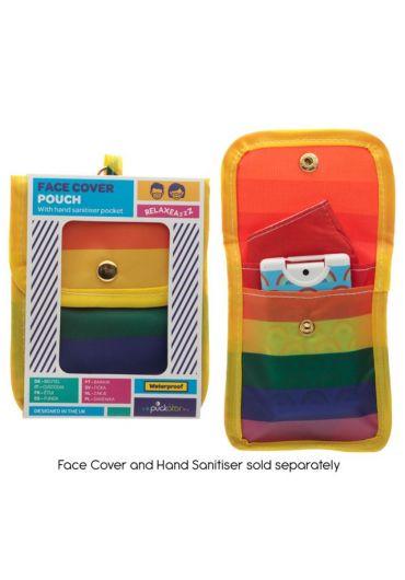 Mini Pouch pentru accesorii - Somewhere Rainbow Face Covering & Hand Sanitiser